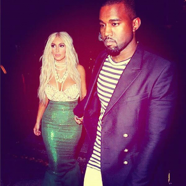 Kim Kardashian and Kanye West appear in a photo  posted on the reality star&#39;s official Twitter page on October 28, 2012. <span class=meta>(twitter.com&#47;KimKardashian)</span>