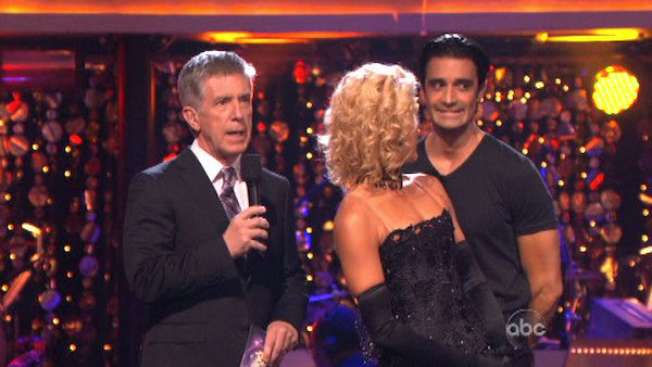 "<div class=""meta ""><span class=""caption-text "">French actor Gilles Marini and his partner Peta Murgatroyd await their fate on 'Dancing With The Stars: The Results Show' on October 30, 2012. The two received 27.5 out of 30 points from the judges for their Cha Cha Cha on 'Dancing With The Stars: All-Stars,' which aired on October 29, 2012. (ABC Photo)</span></div>"