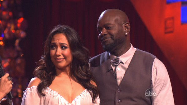 Retired NFL star Emmitt Smith and his partner Cheryl Burke received await their fate on &#39;Dancing With The Stars: The Results Show&#39; on October 30, 2012. The two 26.5 out of 30 points from the judges for their Foxtrot on &#39;Dancing With The Stars: All-Stars,&#39; which aired on October 29, 2012. <span class=meta>(ABC Photo)</span>