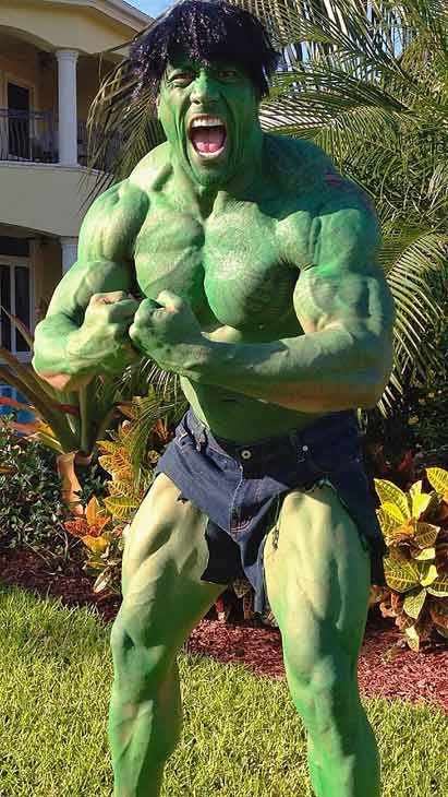 Dwayne &#39;The Rock&#39; Johnson appears in a photo posted on his official Twitter page on October 31, 2012, with the caption, &#39;&#39;Don&#39;t make angry. You wouldn&#39;t like me when I&#39;m angry&#39; ~ The People&#39;s Hulk#HappyHalloween&#39; <span class=meta>(Twitter.com&#47;TheRock)</span>