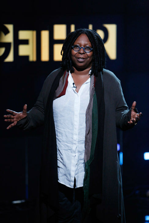 In this photo provided by NBC, Whoopi Goldberg performs during &#39;Hurricane Sandy: Coming Together&#39; Friday, Nov. 2, 2012, in New York. Hosted by Matt Lauer, the event is heavy on stars identified with New Jersey and the New York metropolitan area, which took the brunt of this week&#39;s deadly storm. <span class=meta>(AP Photo &#47; NBC &#47; Heidi Gutman)</span>