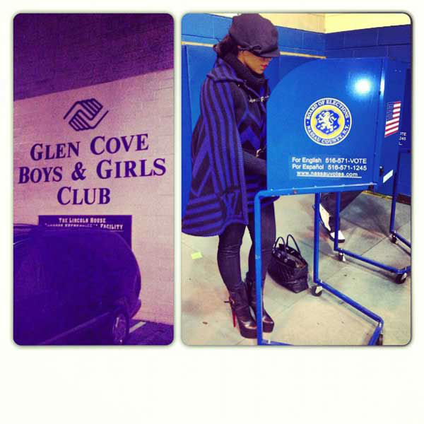 Ashanti Tweeted, &#39;I Flew back to NY to Vote!!! &#38; I voted in my home town Glen Cove @BGCA_Clubs #NoExcuses! #Vote!&#39; <span class=meta>(twitter.com&#47;ashanti)</span>