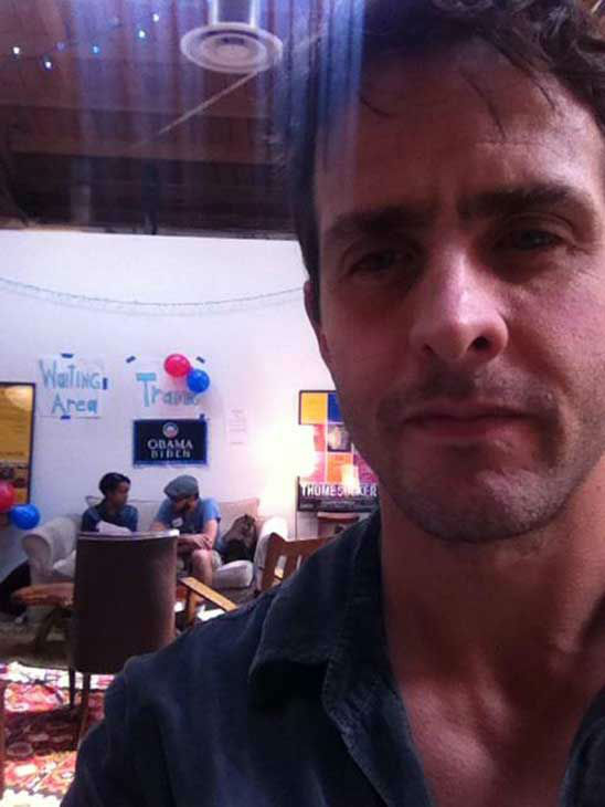 Joey McIntyre appears in a Twitter photo posted on November 6, 2012.