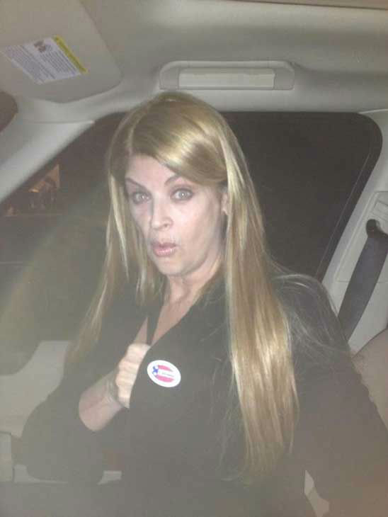 Kirstie Alley appears in a Twitter photo posted on November 6, 2012.