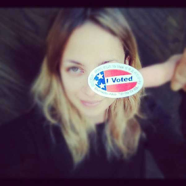 Nicole Richie Tweeted, &#39;Did you? #VOTE&#39; <span class=meta>(twitter.com&#47;nicolerichie)</span>