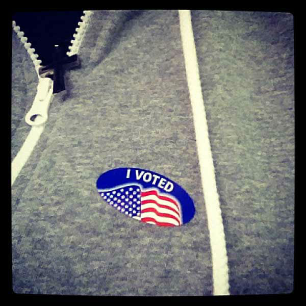 Scotty McCreery Tweeted, &#39;Yall make sure you get out there and vote! #USA #ivoted&#39; <span class=meta>(twitter.com&#47;ScottyMcCreery)</span>
