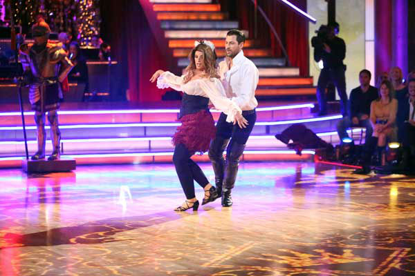 Kirstie Alley and Maksim Chmerkovskiy appear in a still from 'Dancing With The Stars: All-Stars' on November 5, 2012.