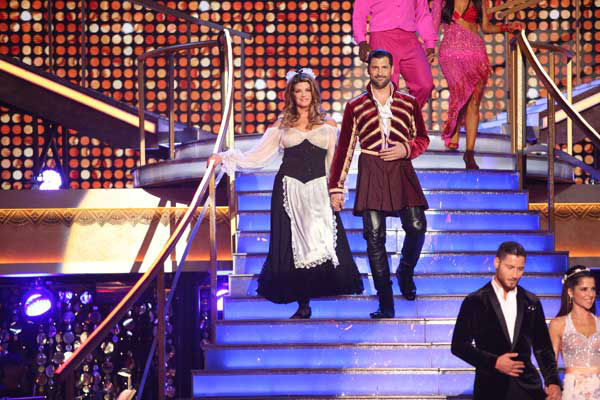 "<div class=""meta image-caption""><div class=""origin-logo origin-image ""><span></span></div><span class=""caption-text"">Actress Kirstie Alley and her partner Maksim Chmerkovskiy received 24 out of 30 points from the judges for their Quickstep and Samba fusion on 'Dancing With The Stars: All-Stars,' which aired on November 5, 2012. (ABC Photo/ Adam Taylor)</span></div>"