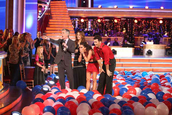 The entire cast of 'Dancing with the Stars: All Stars' appear in a still from their group Swing dance on November 5, 2012.