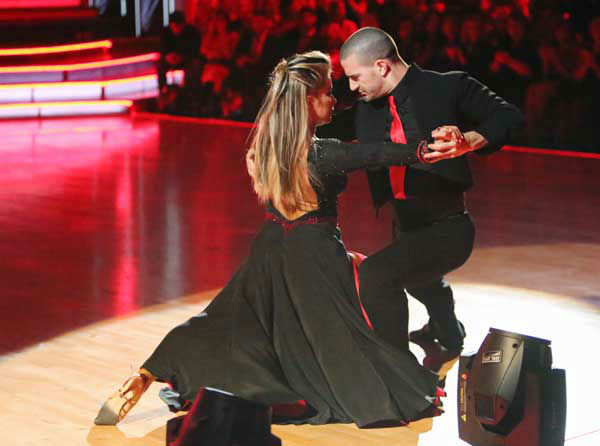 Shawn Johnson and Mark Ballas appear in a still...