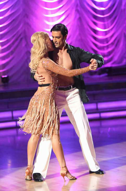 "<div class=""meta ""><span class=""caption-text "">French actor Gilles Marini and his partner Peta Murgatroyd received 28.5 out of 30 points from the judges for their Argentine Tango and Samba fusion on 'Dancing With The Stars: All-Stars,' which aired on November 5, 2012. (ABC Photo/ Adam Taylor)</span></div>"
