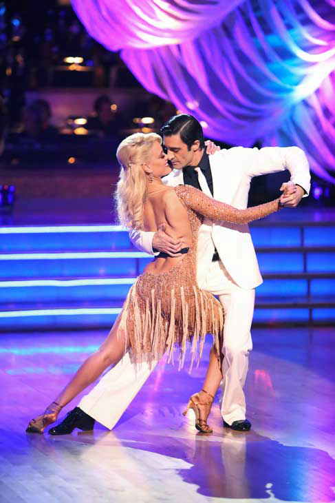 French actor Gilles Marini and his partner Peta Murgatroyd received 28.5 out of 30 points from the judges for their Argentine Tango and Samba fusion on &#39;Dancing With The Stars: All-Stars,&#39; which aired on November 5, 2012. <span class=meta>(ABC Photo&#47; Adam Taylor)</span>