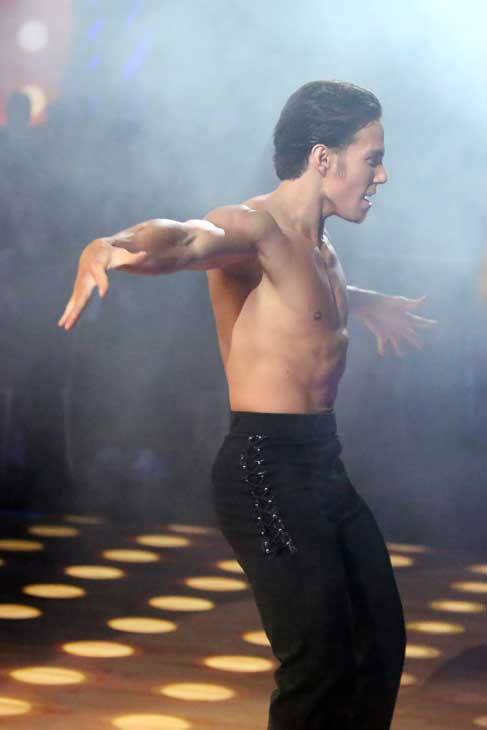 Olympic speed skater Apolo Anton Ohno and his partner Karina Smirnoff received 27 out of 30 points from the judges for their Paso Doble and Cha Cha Cha fusion on &#39;Dancing With The Stars: All-Stars,&#39; which aired on November 5, 2012. <span class=meta>(ABC Photo&#47; Adam Taylor)</span>