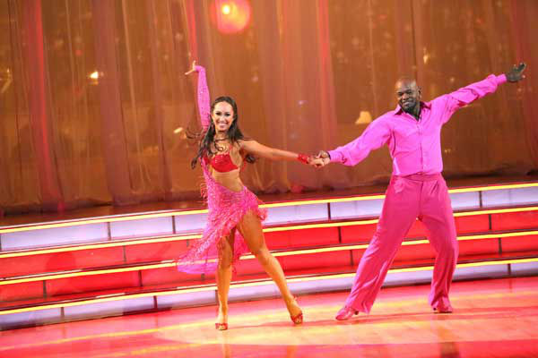 "<div class=""meta ""><span class=""caption-text "">Retired NFL star Emmitt Smith and his partner Cheryl Burke received 27.5 out of 30 points from the judges for their Rumba and Samba fusion on 'Dancing With The Stars: All-Stars,' which aired on November 5, 2012. (ABC Photo/ Adam Taylor)</span></div>"