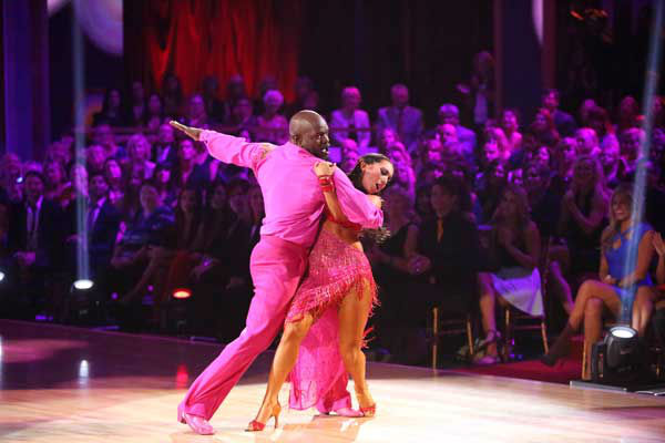 Emmitt Smith and Cheryl Burke appear in a still from 'Dancing With The Stars: All-Stars' on November 5, 2012.