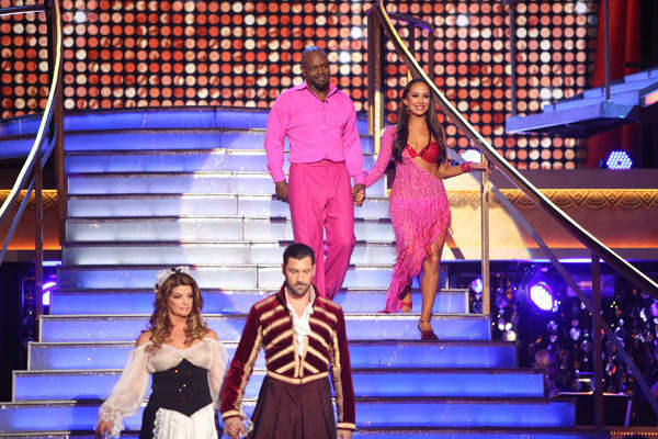 Retired NFL star Emmitt Smith and his partner Cheryl Burke received 27.5 out of 30 points from the judges for their Rumba and Samba fusion on &#39;Dancing With The Stars: All-Stars,&#39; which aired on November 5, 2012. <span class=meta>(ABC Photo&#47; Adam Taylor)</span>