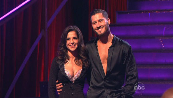 Kelly Monaco and Valentin Chmerkovskiy appear in a still from 'Dancing With The Stars: All-Stars' on November 13, 2012.