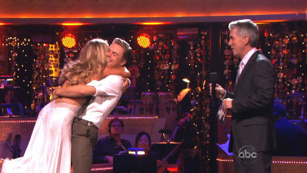 Shawn Johnson and Derek Hough appear in a still from 'Dancing With The Stars: All-Stars' on November 13, 2012.