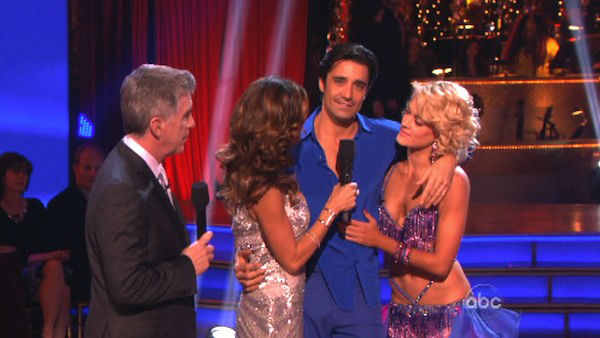 "<div class=""meta image-caption""><div class=""origin-logo origin-image ""><span></span></div><span class=""caption-text"">French actor Gilles Marini and his partner Peta Murgatroyd react to being eliminated on 'Dancing With The Stars: The Results Show' on November 13, 2012. The pair received 29.5 out of 30 points from the judges for their Quickstep and 29 out of 30 points for their Salsa on 'Dancing With The Stars: All-Stars,' which aired on November 12, 2012. (ABC Photo)</span></div>"