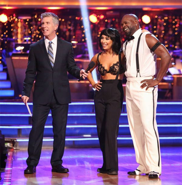 "<div class=""meta ""><span class=""caption-text "">Retired NFL star Emmitt Smith and his partner Cheryl Burke received 27 out of 30 points from the judges for their 'Espionage' Lindy Hop on 'Dancing With The Stars: All-Stars' on Monday, Nov. 19, 2012. (ABC Photo/ Adam Taylor)</span></div>"