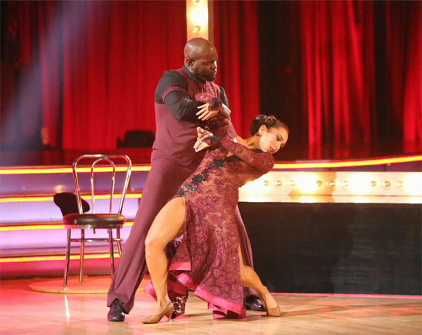 "<div class=""meta ""><span class=""caption-text "">Retired NFL star Emmitt Smith and his partner Cheryl Burke received 27 out of 30 points from the judges for their Tango on 'Dancing With The Stars: All-Stars' on Monday, Nov. 19, 2012. (ABC Photo/ Adam Taylor)</span></div>"