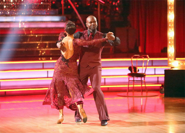 Retired NFL star Emmitt Smith and his partner Cheryl Burke received 27 out of 30 points from the judges for their Tango on 'Dancing With The Stars: All-Stars' on Monday, Nov. 19, 2012.
