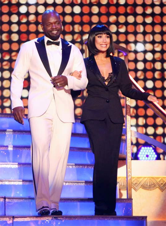 Retired NFL star Emmitt Smith and his partner Cheryl Burke on 'Dancing With The Stars: All-Stars' on Monday, Nov. 19, 2012.