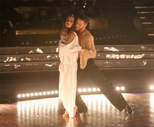 'General Hospital' actress Kelly Monaco and her partner Valentin Chmerkovskiy received 28.5 out of 30 points from the judges for their Rumba on 'Dancing With The Stars: All-Stars' on Monday, Nov. 19, 2012.