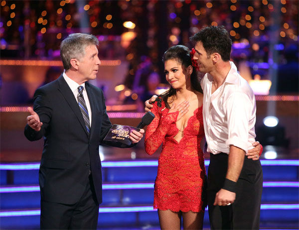 Reality star Melissa Rycroft and her partner Tony Dovolani received 30 out of 30 points from the judges for their Argentine Tango on &#39;Dancing With The Stars: All-Stars&#39; on Monday, Nov. 19, 2012. <span class=meta>(ABC Photo &#47; Adam Taylor)</span>