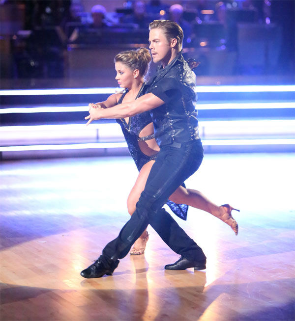 Olympic gymnast Shawn Johnson and her partner Derek Hough received 29 out of 30 points from the judges for their Argentine Tango on &#39;Dancing With The Stars: All-Stars&#39; on Monday, Nov. 19, 2012. <span class=meta>(ABC Photo&#47; Adam Taylor)</span>