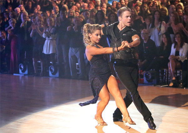 "<div class=""meta ""><span class=""caption-text "">Olympic gymnast Shawn Johnson and her partner Derek Hough received 29 out of 30 points from the judges for their Argentine Tango on 'Dancing With The Stars: All-Stars' on Monday, Nov. 19, 2012. (ABC Photo/ Adam Taylor)</span></div>"