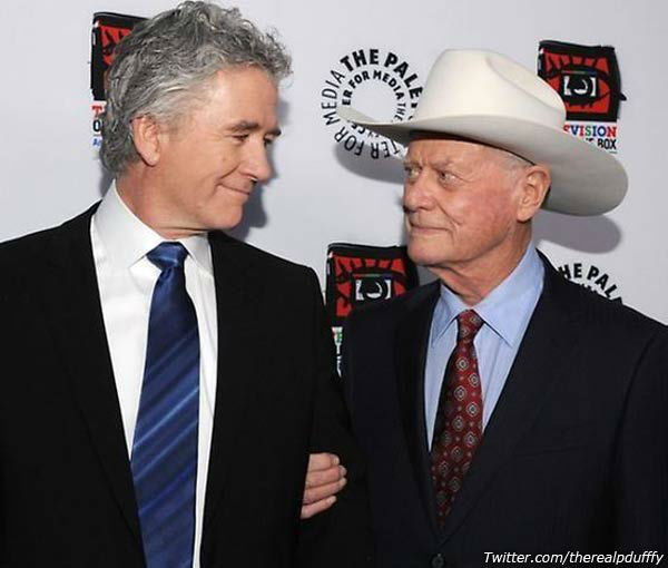 "<div class=""meta image-caption""><div class=""origin-logo origin-image ""><span></span></div><span class=""caption-text"">Patrick Duffy, who played Hagman's brother on 'Dallas,' wrote on his official Twitter page with a picture, 'My friend is taking a break. Pardon my silence. Love Patrick.'   (Pictured: Duffy and Hagman in an undated photo from Duffy's official Twitter page.)  (Twitter.com/therealpduffy)</span></div>"