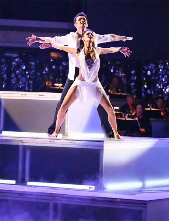 Reality star Melissa Rycroft and her partner Tony Dovolani received 30 out of 30 points from the judges for their Freestyle on &#39;Dancing With The Stars: All-Stars&#39; on Monday, Nov. 26, 2012. <span class=meta>(ABC Photo &#47; Adam Taylor)</span>