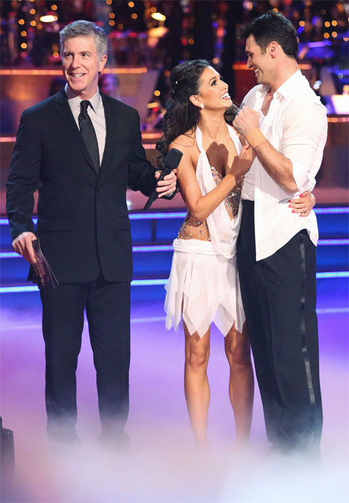 "<div class=""meta ""><span class=""caption-text "">Reality star Melissa Rycroft and her partner Tony Dovolani received 30 out of 30 points from the judges for their Freestyle on 'Dancing With The Stars: All-Stars' on Monday, Nov. 26, 2012. (ABC Photo / Adam Taylor)</span></div>"