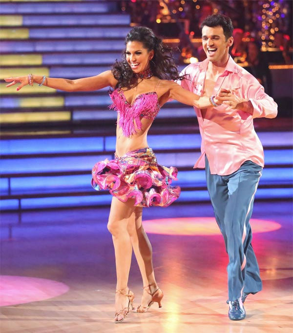 Reality star Melissa Rycroft and her partner Tony Dovolani received 30 out of 30 points from the judges for their Samba on 'Dancing With The Stars: All-Stars' on Monday, Nov. 26, 2012.