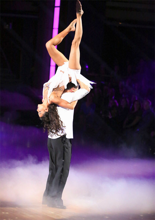 Reality star Melissa Rycroft and her partner Tony Dovolani received 30 out of 30 points from the judges for their Freestyle on 'Dancing With The Stars: All-Stars' on Monday, Nov. 26, 2012.