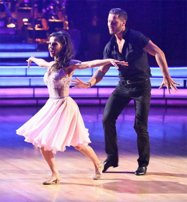 "<div class=""meta image-caption""><div class=""origin-logo origin-image ""><span></span></div><span class=""caption-text"">'General Hospital' actress Kelly Monaco and her partner Valentin Chmerkovskiy received 29.5 out of 30 points from the judges for their Freestyle on 'Dancing With The Stars: All-Stars' on Monday, Nov. 26, 2012. (ABC Photo / Adam Taylor)</span></div>"