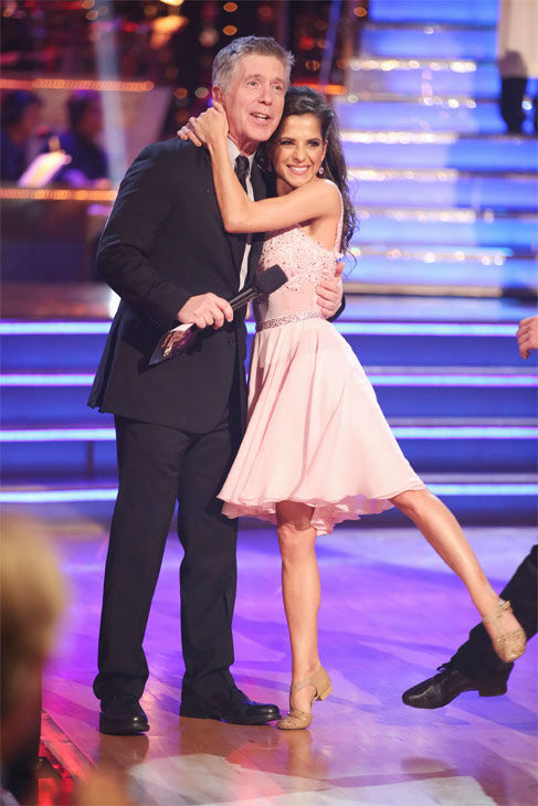 &#39;General Hospital&#39; actress Kelly Monaco and her partner Valentin Chmerkovskiy received 29.5 out of 30 points from the judges for their Freestyle on &#39;Dancing With The Stars: All-Stars&#39; on Monday, Nov. 26, 2012. <span class=meta>(ABC Photo &#47; Adam Taylor)</span>