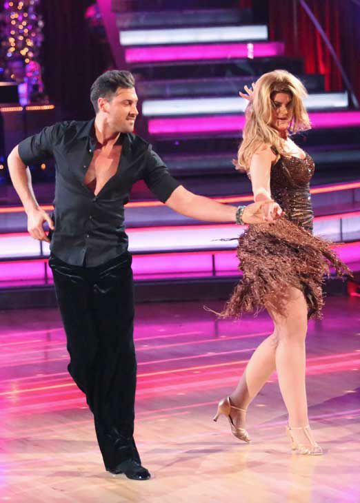 "<div class=""meta ""><span class=""caption-text "">Actress Kirstie Alley and her partner Maksim Chmerkovskiy returned to the ballroom for the 'Dancing With The Stars: All-Stars' finale on November 27, 2012. (ABC Photo/ Adam Taylor)</span></div>"