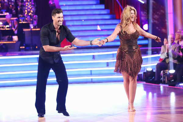 Actress Kirstie Alley and her partner Maksim Chmerkovskiy returned to the ballroom for the 'Dancing With The Stars: All-Stars' finale on November 27, 2012.