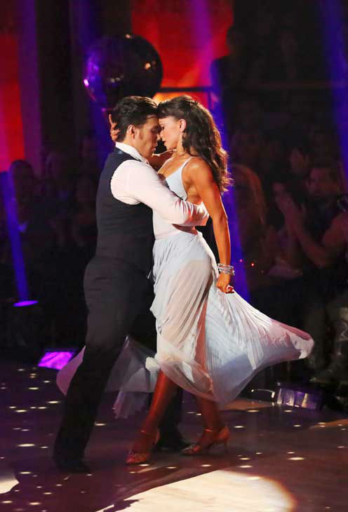 Olympic speed skater Apolo Anton Ohno and his partner Karina Smirnoff returned to the ballroom for the 'Dancing With The Stars: All-Stars' finale on November 27, 2012.