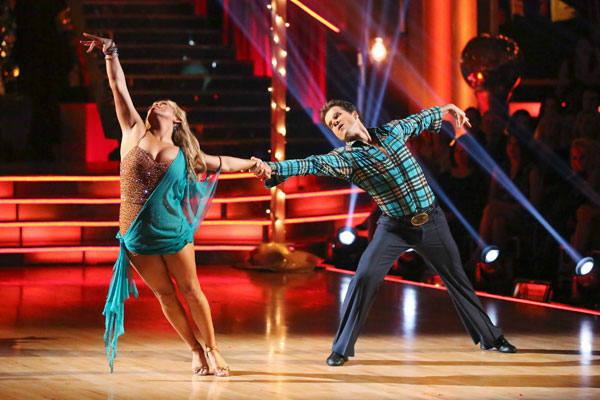 Disney Channel actress Sabrina Bryan and her partner Louis Van Amstel returned to the ballroom for the 'Dancing With The Stars: All-Stars' finale on November 27, 2012.