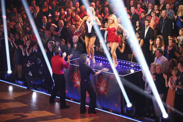 "<div class=""meta ""><span class=""caption-text "">The cast of season 15 returned to the ballroom for the 'Dancing With The Stars: All-Stars' finale on November 27, 2012. (Pictured: JOEY FATONE, KYM JOHNSON, LOUIS VAN AMSTEL, SABRINA BRYAN.) (ABC Photo/ Adam Taylor)</span></div>"