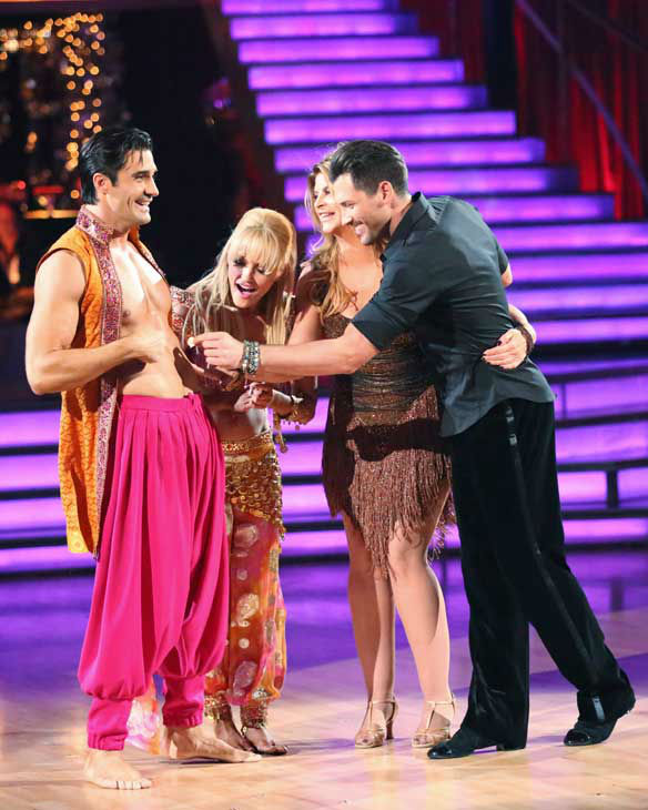"<div class=""meta ""><span class=""caption-text "">The cast of season 15 returned to the ballroom for the 'Dancing With The Stars: All-Stars' finale on November 27, 2012. (Pictured: GILLES MARINI, PETA MURGATROYD, KIRSTIE ALLEY and MAKSIM CHMERKOVSKIY.) (ABC Photo/ Adam Taylor)</span></div>"