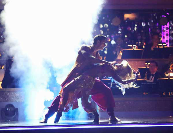 French actor Gilles Marini and his partner Peta Murgatroyd returned to the ballroom for the 'Dancing With The Stars: All-Stars' finale on November 27, 2012.