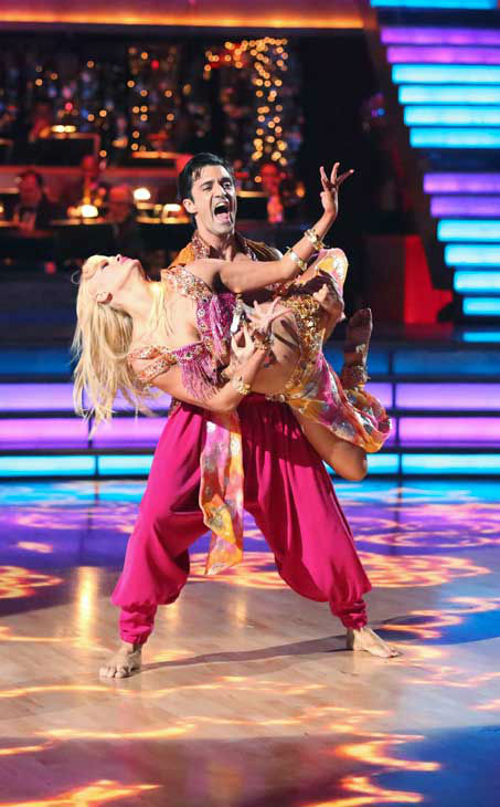 "<div class=""meta ""><span class=""caption-text "">French actor Gilles Marini and his partner Peta Murgatroyd returned to the ballroom for the 'Dancing With The Stars: All-Stars' finale on November 27, 2012. (ABC Photo/ Adam Taylor)</span></div>"