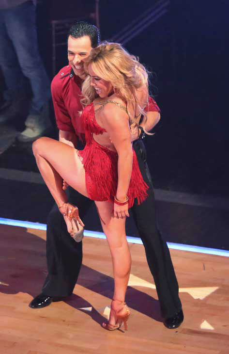 The cast of season 15 returned to the ballroom for the &#39;Dancing With The Stars: All-Stars&#39; finale on November 27, 2012. &#40;Pictured: HELIO CASTRONEVES, SABRINA BRYAN.&#41; <span class=meta>(ABC Photo&#47; Adam Taylor)</span>