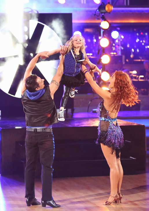 "<div class=""meta image-caption""><div class=""origin-logo origin-image ""><span></span></div><span class=""caption-text"">Former member of the boy band 98 Degrees, Drew Lachey and his partner Anna Trebunskaya returned to the ballroom with his daughter for the 'Dancing With The Stars: All-Stars' finale on November 27, 2012. (ABC Photo/ Adam Taylor)</span></div>"