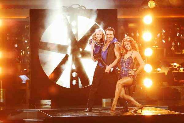 "<div class=""meta ""><span class=""caption-text "">Former member of the boy band 98 Degrees, Drew Lachey and his partner Anna Trebunskaya returned to the ballroom with his daughter for the 'Dancing With The Stars: All-Stars' finale on November 27, 2012. (ABC Photo/ Adam Taylor)</span></div>"
