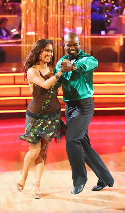 Retired NFL star Emmitt Smith and his partner Cheryl Burke returned to the ballroom for the 'Dancing With The Stars: All-Stars' finale on November 27, 2012.